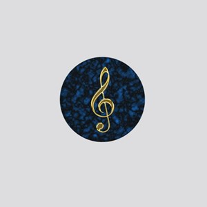 Golden Treble Clef Mini Button