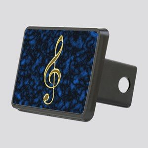Golden Treble Clef Rectangular Hitch Cover