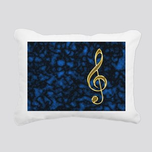 Golden Treble Clef Rectangular Canvas Pillow
