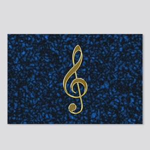 Golden Treble Clef Postcards (Package of 8)