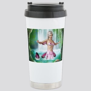 Pink Mermaid Stainless Steel Travel Mug