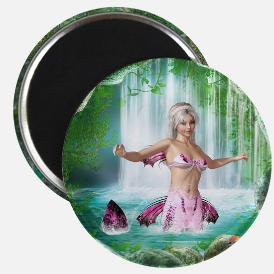 Pink Mermaid Magnet