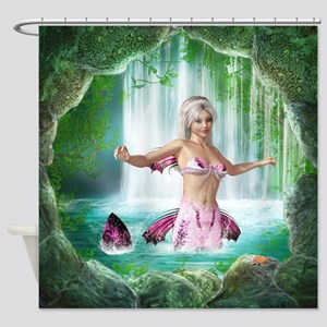 Pink Mermaid Shower Curtain