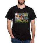 Lilies2-Aussie Shep (#4) Dark T-Shirt
