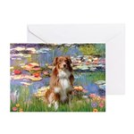 Lilies2-Aussie Shep (#4) Greeting Cards (Pk of 10)