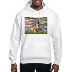 Lilies2-Aussie Shep (#4) Hooded Sweatshirt