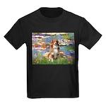 Lilies2-Aussie Shep (#4) Kids Dark T-Shirt