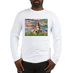 Lilies2-Aussie Shep (#4) Long Sleeve T-Shirt