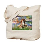 Lilies2-Aussie Shep (#4) Tote Bag