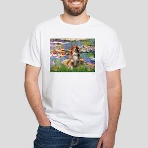 Lilies2-Aussie Shep (#4) White T-Shirt