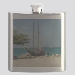 Sailboat in Aruba Flask