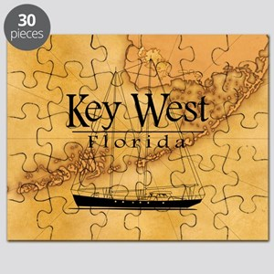 Key West Sailing Map Puzzle