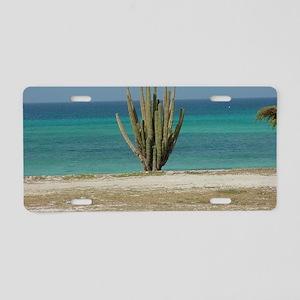 The Beach Aluminum License Plate