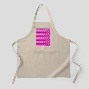 Hot pink quatrefoil pattern Apron