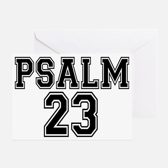 Psalm 23 Bible Verse Greeting Card