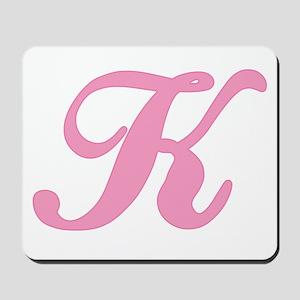 K Initial Mousepad