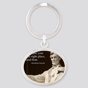 Lincoln Inspirational Quote Oval Keychain