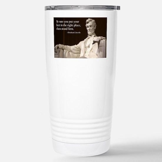 Lincoln Inspirational Q Stainless Steel Travel Mug