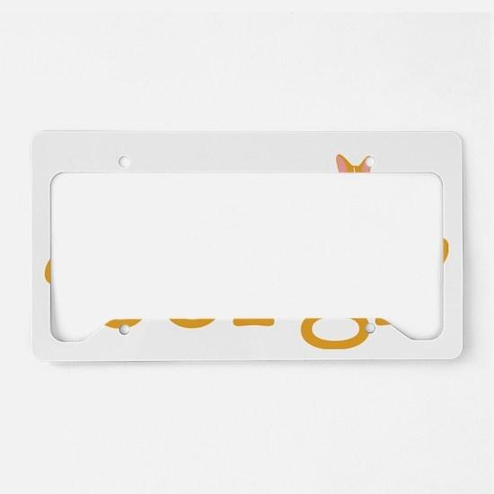 hadmeatcorgi_dark License Plate Holder