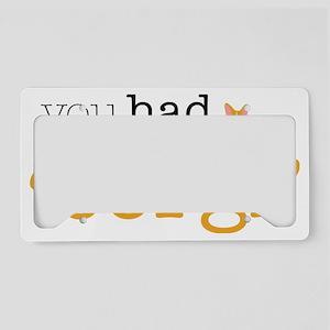 hadmeatcorgi License Plate Holder
