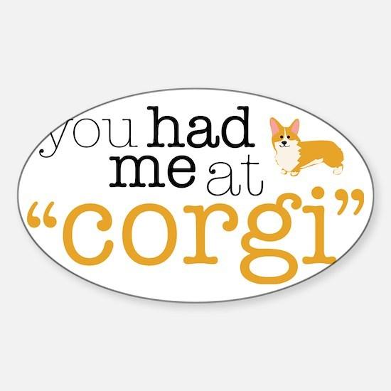 hadmeatcorgi Sticker (Oval)