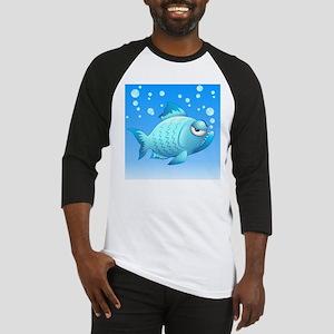Grumpy Fish Cartoon Baseball Jersey