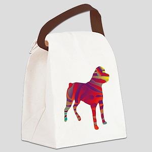 Pop Art Rottweiler Canvas Lunch Bag