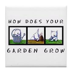 GARDEN GROW Tile Coaster