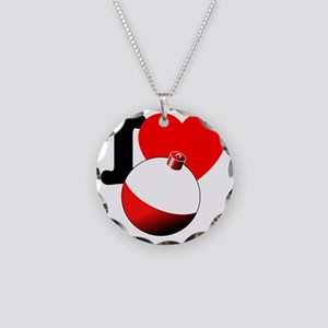 I Heart Bobber Necklace Circle Charm