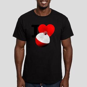 I Heart Bobber Men's Fitted T-Shirt (dark)