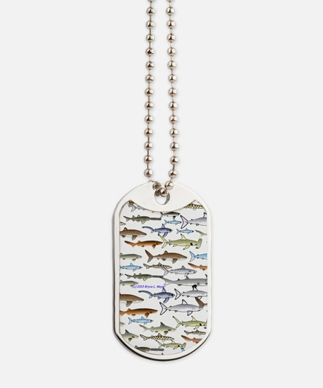school of sharks 2V1 Dog Tags