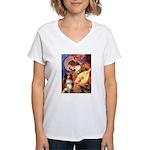 Angel3 - Aussie Shep #4 Women's V-Neck T-Shirt