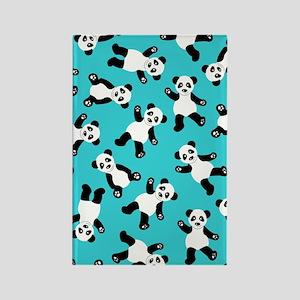 Cute Happy Panda Bear Cartoon Pri Rectangle Magnet