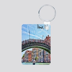 Venice Italy Journal Aluminum Photo Keychain