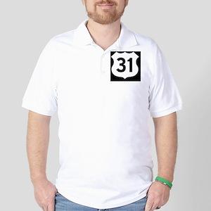 US 31 Highway Shield Golf Shirt