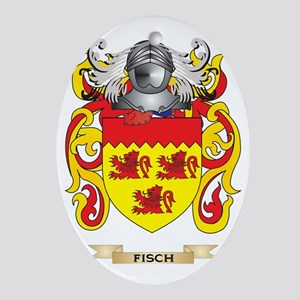 Fisch Coat of Arms Oval Ornament