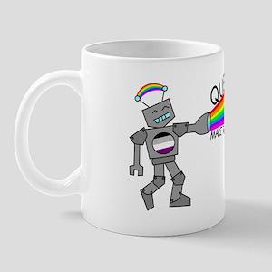 queer robot asexual flag Mug