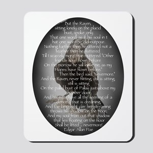 Edgar Allen Poe The Raven Poem Mousepad