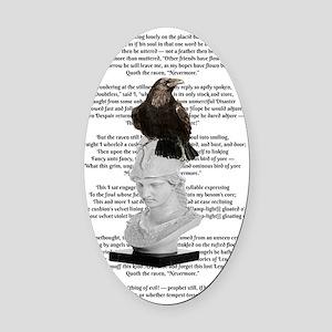 Edgar Allen Poe The Raven Poem Oval Car Magnet