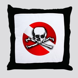 Going Down Is Optional Throw Pillow