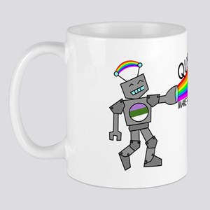 queer robots genderqueer flag Mug