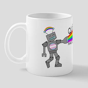queer robots trans* flag Mug