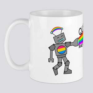 queer robots pansexual flag Mug