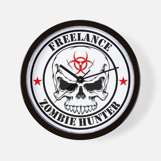 Freelance Zombie Hunter Wall Clock