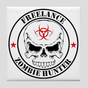 Freelance Zombie Hunter Tile Coaster
