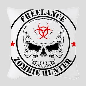 Freelance Zombie Hunter Woven Throw Pillow