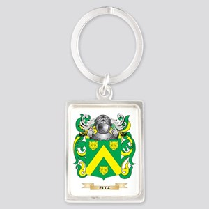 Fitz Maurice Coat of Arms Portrait Keychain