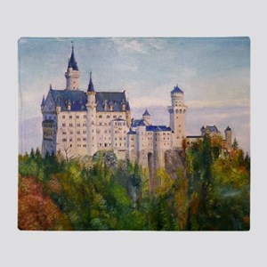 neuschwanstein square Throw Blanket