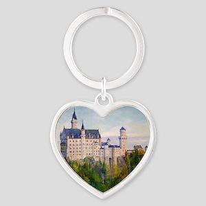 neuschwanstein square Heart Keychain