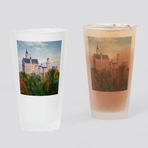 neuschwanstein square Drinking Glass
